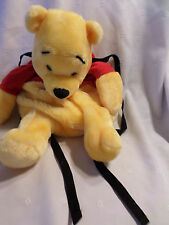 Winnie the Pooh Backpack Adjustable Straps Plush Soft Toy Stuffed Animal 18""
