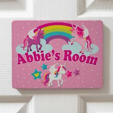 Personalised Cute Unicorns Children's Bedroom Girls Door Name Sign Plaque DPE26