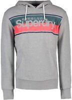 Superdry Core Logo Overhead Hoodie Sweatshirt Hooded Sweat Top Light Grey