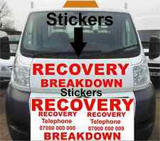 RECOVERY BREAKDOWN STICKERS KIT RED SIGN MAKING VINYL WATER PROOF LETTERING