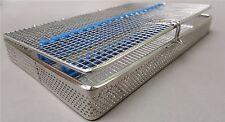 Maglia Perforata la sterilizzazione CASSETTA Vassoio Rack 20 strumenti dentale autoclave