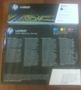 Genuine HP 201X LaserJet Toner Black Cyan Magenta Set of 4 Yellow Factory Sealed