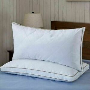 puredown Natural Goose Down Feather Bed Pillow - Standard/Queen