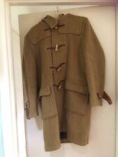 Mens Gloverall Wool Duffle Coat Camel Hood Bone Toggles Sz UK 38 EU 48 small