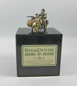 King & Country WSS6/WS006B WWII German Sidecar w/2 Soldiers Rare Grey Ltd Ed