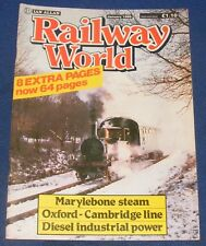 RAILWAY WORLD JANUARY 1986 - MARYLEBONE STEAM
