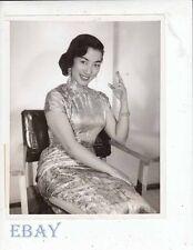 Hwana Wang sexy Asian w/cig VINTAGE Photo candid 1957
