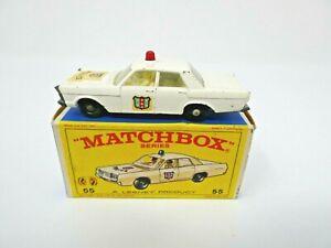 VINTAGE 1968 LESNEY MATCHBOX #55 POLICE CAR IN ORIGINAL BOX.NICE!