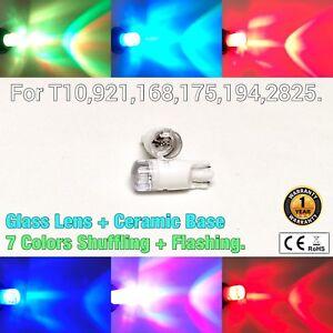 T10 921 194 168 2825 12961 Reverse Backup Light 7 Colors RGB SMD LED Bulbs M1 M