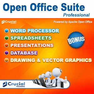 Open Office Suite Professional Software for Windows Home, Student and Business