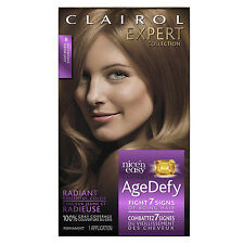 Clairol Age Defy Expert Collection Hair Color 6 Light Brown, READ, DAMAGED BOX