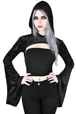 Killstar Belinda Hooded Bolero Gothic Occult Dark Boho Nu Goth NEW