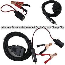 Emergency Power Supply Connector Memory Saver with Extended Cable Battery Clamp