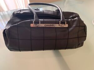 Authentic Chanel Chocobar caviar skin large