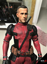 Burning soul 1/6 Ryan Reynolds Deadpool head play For Hot Toys body Pre-order