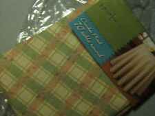"""NEW - DECORATIVE HOME TRENDS DUNDEE PLAID 70"""" TABLE ROUND TABLECLOTH NIP"""