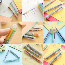 Stationery Multi-Color Ball-point Pen Colour 6 Color Ballpoint Pen Study Pen Top