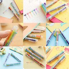 Stationery Multi-Color Ball-point Pen Colour 6 Color Ballpoint Pen Study Pen