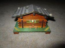 "Vintage Cuendet Swiss chalet cabin wooden music box, plays ""Lara's Theme"""