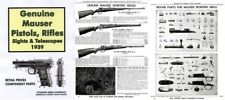 Mauser 1939 Genuine Pistols, Rifles & Parts Stoeger Gun Catalog