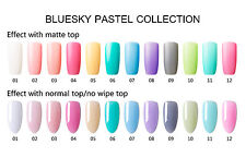 Bluesky PASTEL COLLECTION UV/LED Gel Nail Soak Off Polish 10ml FREE POSTAGE