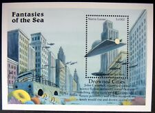 1996 Sierra Leone Fantasies Of Sea Stamps Ss City Under Polar Ice Melt Sci-Fi