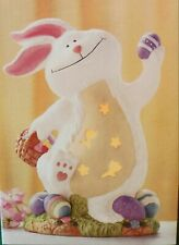 """JC PENNEY HOME COLLECTION Porcelain Bunny Rabbit Light Table Lamp 9"""""""
