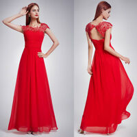 Ever-Pretty US Red Formal Evening Dress Lace Long Party Bridesmaid Dresses 09993