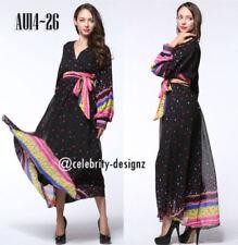 V-Neck Long Sleeve Geometric Dresses for Women
