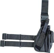 Militare Tattico Gamba Pistola Fondina VIPER Hunter Pistola Sacchetto SAS Nero Mano Destra