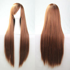 Womens Straight Full Wig Black Long Hair Synthetic Party Costume Cosplay Wig 31""