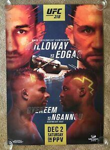 Official UFC 218A Holloway vs Edgar Poster 27x39 (Near Mint)