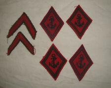 Insignes de la Marine tissu brodé Lot de 6 tbe