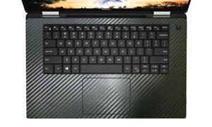 2-pack Black carbon fiber Palmrest Sticker Cover Skin Protector for Dell XPS 15