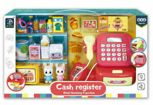 Toy Cash Register Kids Role Play Till Toy Play Set Real Working Function