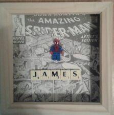 NUOVO Handmade Personalizzata Marvel Spiderman Mini Figura (immagine si adatta LEGO)