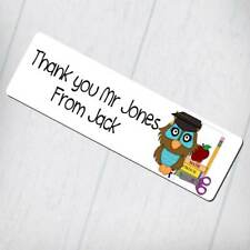 Personalised Bookmark - Thank You Teacher Owl Design