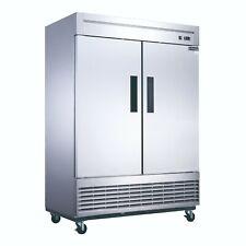 New! Dukers D55F 2-Door Bottom Mount Commercial Freezer in Stainless Steel