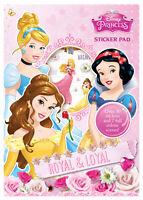 Disney Princess Sticker Pad Childrens Activity Stickers Stocking Filler