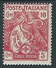 1915-16 REGNO PRO CROCE ROSSA 10+5 CENT MH * - G189-2