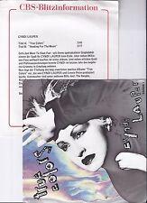 "Cyndi laupers, True Colors, PROMO info, è VG +/VG + 7"" single 0964-8"