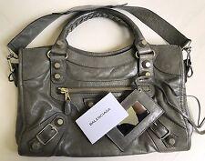 Balenciaga Giant City Dark Grey Silver Hardware Bag - 100% AUTHENTIC Gently Used