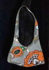 retro shoulder bag vintage fabric shopping carry hold all lined pineapple retro