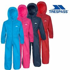 Trespass Boys Girls Rainsuit Waterproof All In One Snow Suit For Kids 2-12 Years
