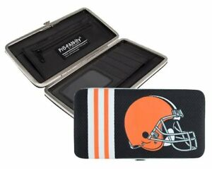 Cleveland Browns NFL Team Logo Hard Shell Mesh Wallet