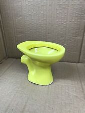 More details for miniature sample toilet in bright yellow colour
