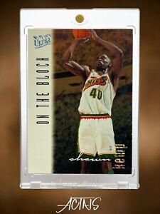 1996 Fleer Ultra ON THE BLOCK Platinum SHAWN KEMP SUPER RARE PARALLEL 90s CARD