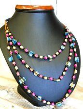Beautiful Necklace Ethnic Decorative Colourful Beads 30 cm Handmade NEW