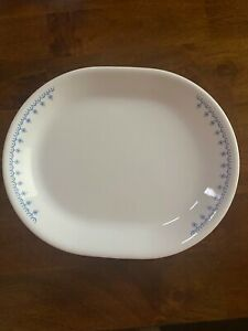 Vintage Corelle Snowflake Blue Serving Platter