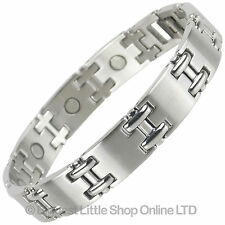 NEW Mens Magnetic Stainless Steel MAGNETS Bracelet NdFeB Neodymium Therapy